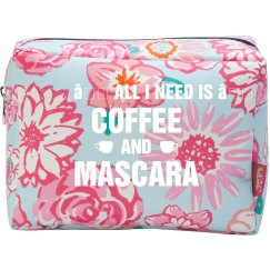 Coffee And Mascara Makeup Bag