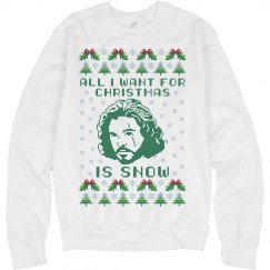 Jon Snow Christmas Ugly Sweater