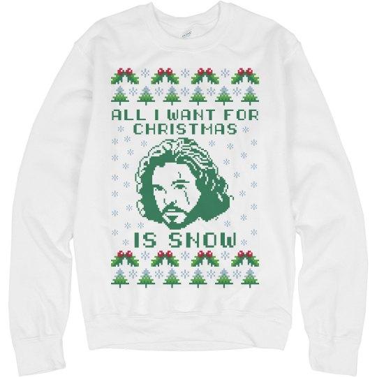 jon snow christmas ugly sweater