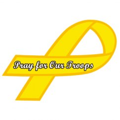 Pray for Troops Ribbon
