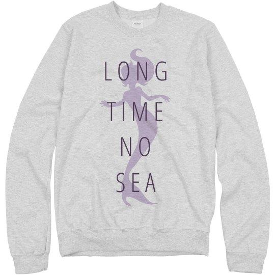 8a88229dd Ready For Summer Mermaid Quotes Unisex Basic Promo Crewneck Sweatshirt