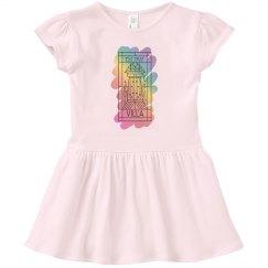 Toddler Villa Rainbow Paint Logo Dress