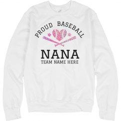 Custom Glitter Baseball Nana