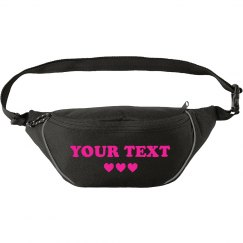 Your Glitter Text Fanny Pack