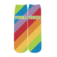Custom Text Rainbow Pride Socks