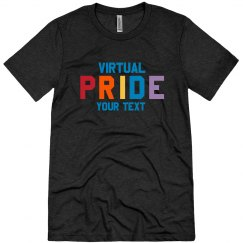 Virtual Pride Custom Rainbow Tee