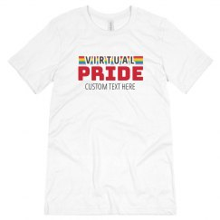 Custom Virtual Pride Rainbow Tee