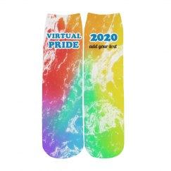 Rainbow Your Text Pride Socks