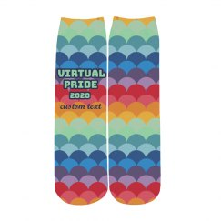 Custom Text & Date Virtual Pride Socks