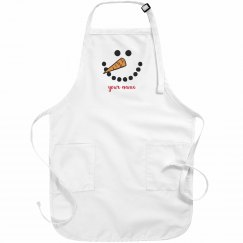 Custom Snowman Cute Christmas Apron