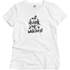 Halloween W Shirt - Drink up Witches - pk