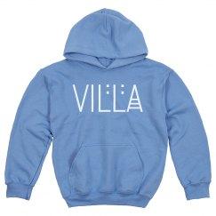 Kids Villa Name White Logo Hoodie