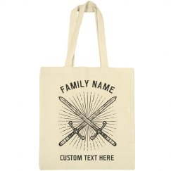 Customizable Family Crest & Name Tote Bags