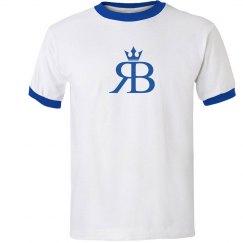 Red Bottoms Tee-blue/blue logo