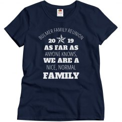 903304e2 Family Reunion Tree Custom Tee. $22.97 $14.97. Unisex Basic Promo Tee ·  Nice Normal Reunion