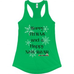 Merry Fitmas Racerbank Tank