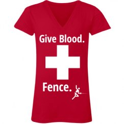 Give Blood. Fence.