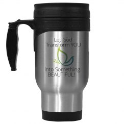 Let God Transform You Stainless Travel Mug