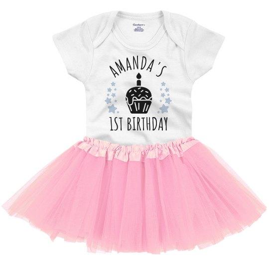 Custom 1st Birthday Tutu Onesie Infant With