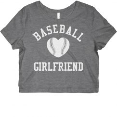 Cute and Trendy Baseball Girlfriend Crop Top