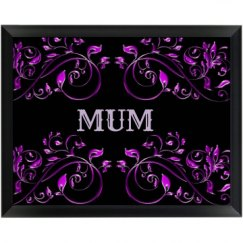 Floral Mum Wall Plaque