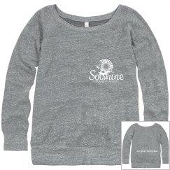 Gray Boatneck Sweatshirt