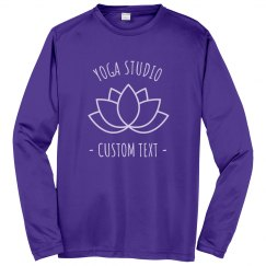 Custom Long Sleeve Yoga Studio Performance Shirts