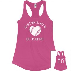Custom Baseball Mom Tank Tops
