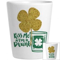 Kiss Me I'm Drunk Golden Shamrock
