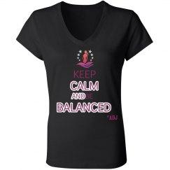 Keep Calm and Be Balanced - Slim-fit V neck