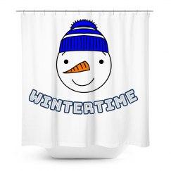 Snowman Wintertime Showercurtain