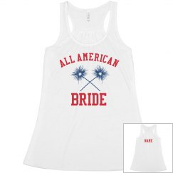 Custom Name American Bride Tank