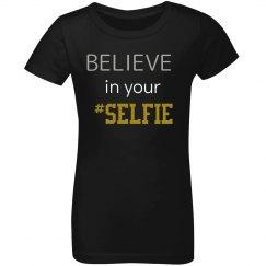 Believe in your #SELFIE Kids Tee