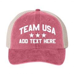 Team USA 4th of July Custom Text