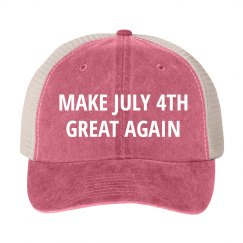 Vintage Make July 4th Great Again