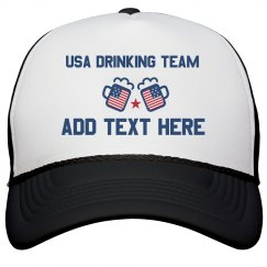 Personalized USA Drinking Team Cap