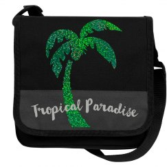 Green Glitter Palm Tree Tropical Paradise