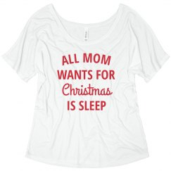 All Mom Wants for Christmas is Sleep Xmas Pajamas