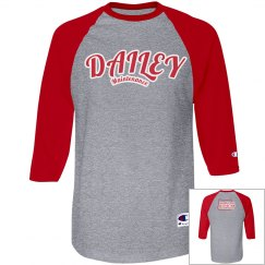 DM Red/Gry Baseball T