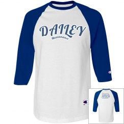 DM Blu/Wht Baseball T