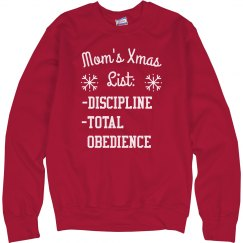 Mom's Christmas List Funny Sweater