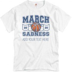 Funny March Madness Sadness Custom