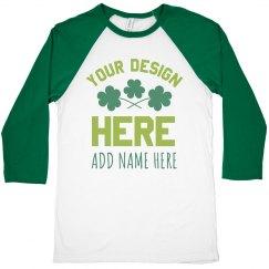 Custom St. Patrick's Matching Shamrocks