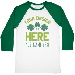 Custom St. Patrick's Matching Shamrocks