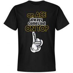 Black and gold Ace Tshirt