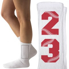 Custom Baseball of Softball Fan Socks
