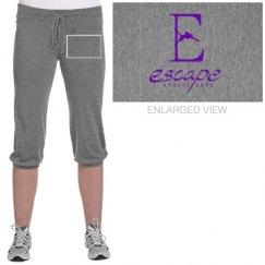 Logo cropped pants