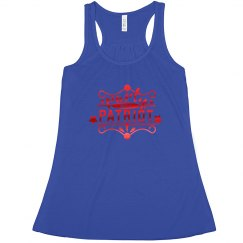 4th of July Tank Metalic Font
