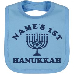Name's First Hanukkah Bib