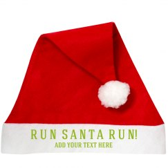 Custom Running Santa Hat